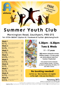 Summer Holiday Club 2018 Flyer